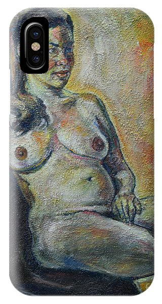Sitting Nude IPhone Case
