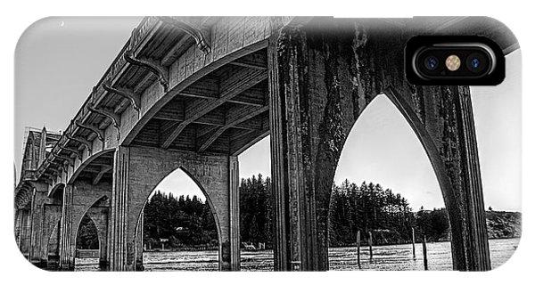 Siuslaw River Bridge Portrait IPhone Case