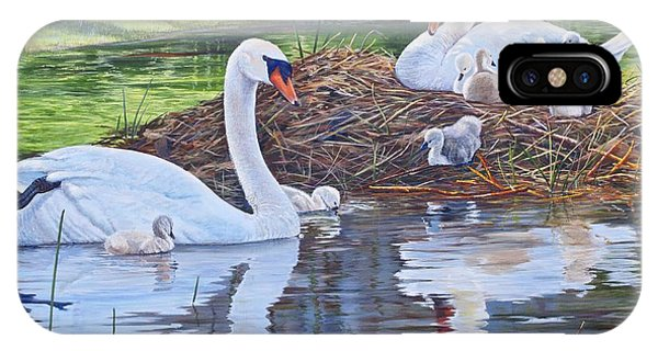 Six Cygnets IPhone Case