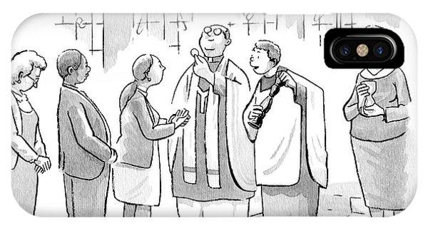 Six People In Church IPhone Case