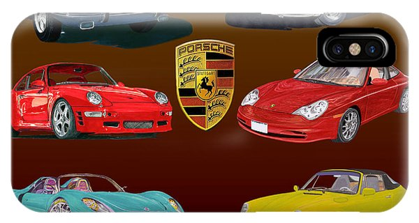 Six Sexy Slippery Porsche Automobiles IPhone Case