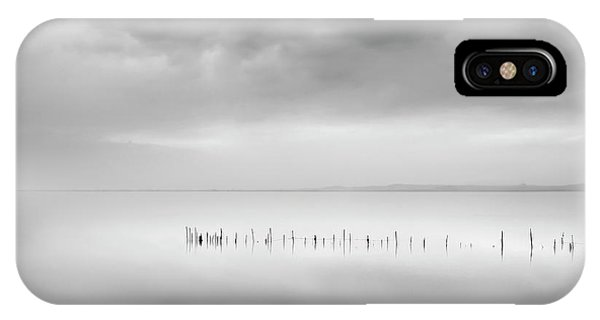 Simple Landscape iPhone Case - Sixty Shades Of Gray by George Digalakis
