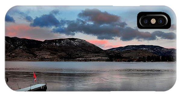 Skaha Lake Panorama 02-19-2014 IPhone Case