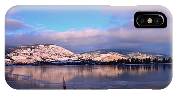 Skaha Lake Panorama 2/5/2014  IPhone Case