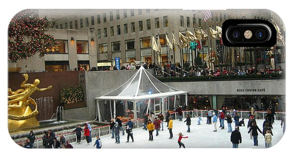 Skating In Rockefeller Center IPhone Case