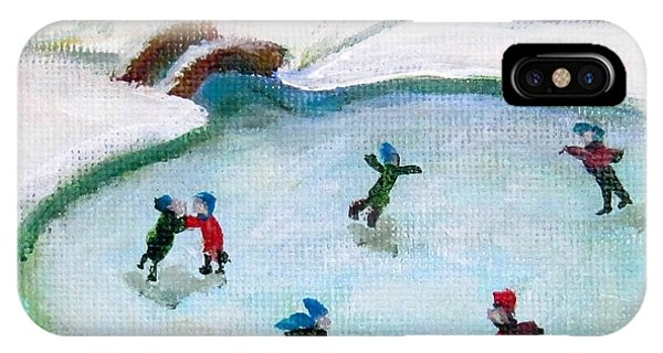 Skating Pond IPhone Case