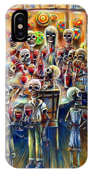 Skeleton Wine Party IPhone Case