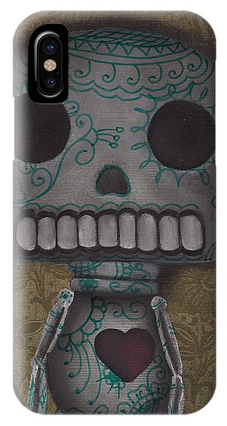 Skelly With A Heart IPhone Case