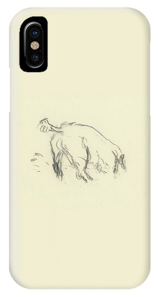 Sketch Of A Dog Digging A Hole IPhone Case