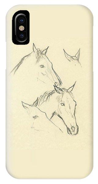 Sketch Of A Horse Head IPhone Case
