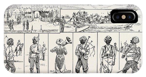 Sketches At The Rawul Pindi Durbar, 1885. 1. Entrance IPhone Case