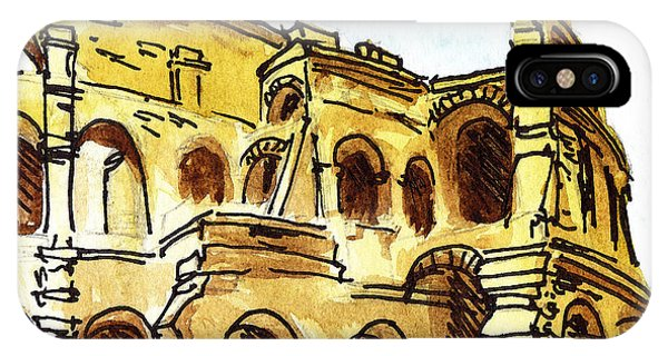 Sketching Italy Rome Colosseum Ruins IPhone Case