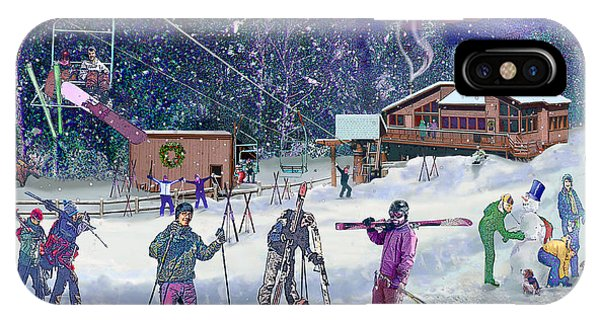 Ski Area Campton Mountain IPhone Case