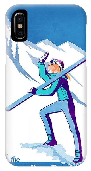 Rocky Mountain iPhone Case - Ski The Rockies by Sassan Filsoof