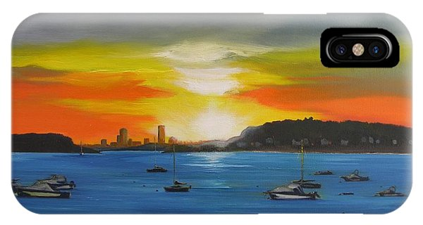 Skies Over The City IPhone Case