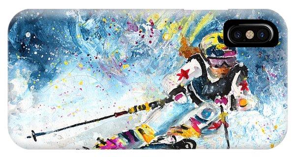 iPhone Case - Skiing 03 by Miki De Goodaboom