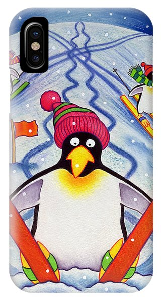 Accident iPhone Case - Skiing Holiday by Cathy Baxter