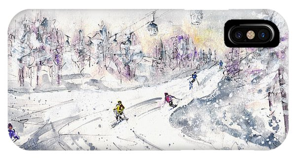 iPhone Case - Skiing In The Dolomites In Italy 01 by Miki De Goodaboom