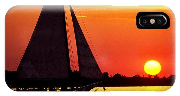 Skipjack iPhone Case - Skipjack At Sunset by Thomas R Fletcher