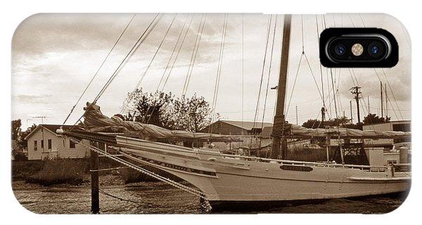 Skipjack iPhone Case - Skipjack In Port by Skip Willits