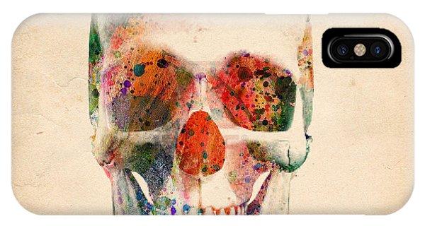 Skull iPhone Case - Skull 12 by Mark Ashkenazi
