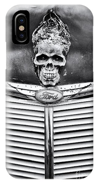 Trucking iPhone Case - Skull And Bones by Tim Gainey