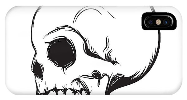 Clothing iPhone Case - Skull, Side View, Isolated On White by Nexusby
