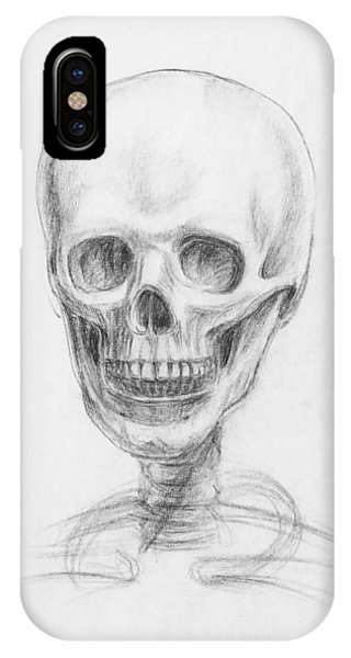 Bone iPhone Case - Skull Study by Irina Sztukowski