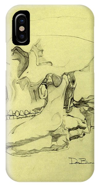 iPhone Case - Skull Study Oblique Profile by Donald Burroughs