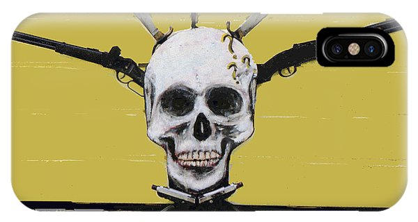 Skull With Guns IPhone Case