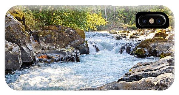Skutz Falls At Cowichan River Provincial Park IPhone Case