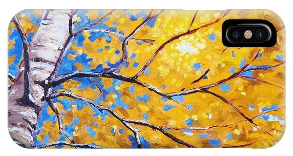 Rocky Mountain iPhone Case - Sky Birch by Nancy Merkle