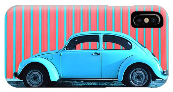 Hot iPhone Case - Sky Blue Bug by Laura Fasulo
