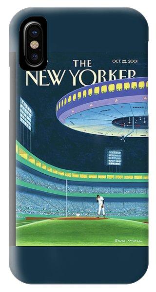 Yankee Stadium iPhone Case - Sky Box by Bruce McCall
