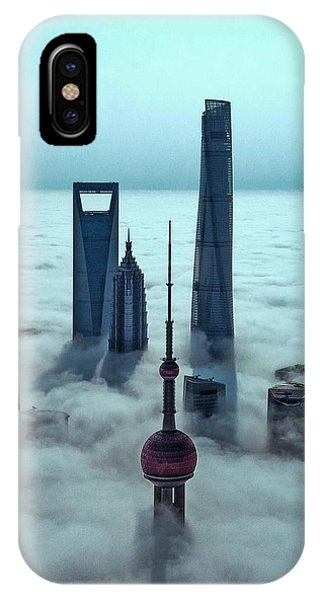 Chinese iPhone Case - Sky City by Stan Huang