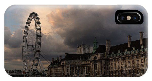 Sky Drama Around The London Eye IPhone Case