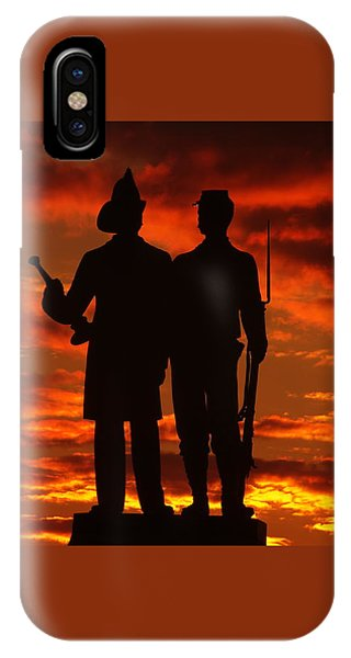 Sky Fire - 73rd Ny Infantry Fourth Excelsior Second Fire Zouaves-a1 Sunrise Autumn Gettysburg IPhone Case