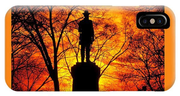 Sky Fire - Flames Of Battle 50th Pennsylvania Volunteer Infantry-a1 Sunset Antietam IPhone Case
