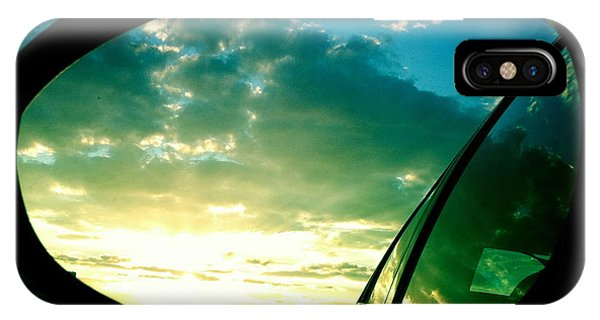 Sky iPhone Case - Sky In The Rear Mirror by Matthias Hauser