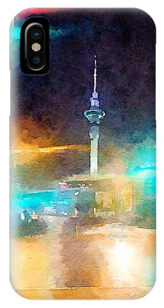 Sky Tower By Night IPhone Case
