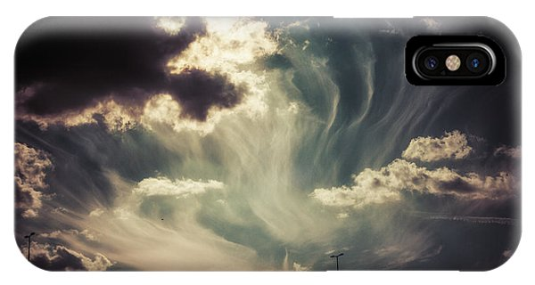Sky Wisps Over A Double Decker IPhone Case
