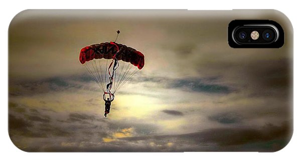 Evening Skydiver IPhone Case