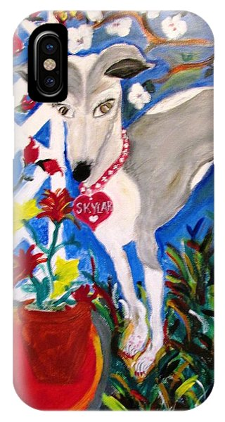 Skylar Miniature Greyhound IPhone Case