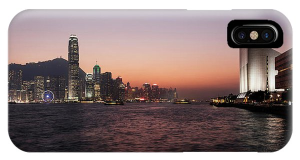 Skyline At Waterfront During Dusk IPhone Case