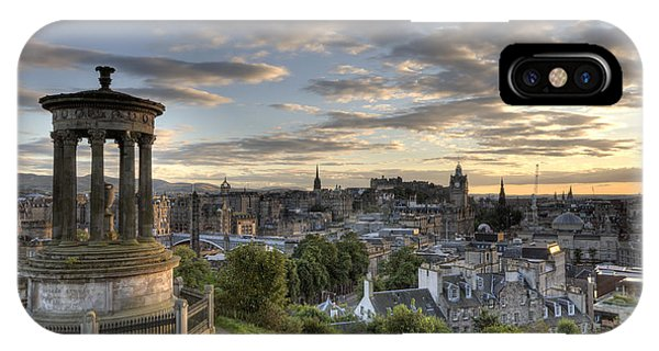 IPhone Case featuring the photograph Skyline Of Edinburgh Scotland by Michalakis Ppalis
