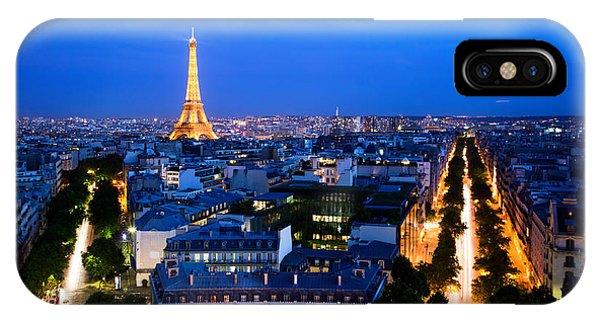 Skyline Of Paris IPhone Case