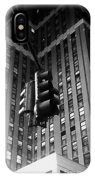 Skyscraper Framed Traffic Light IPhone Case