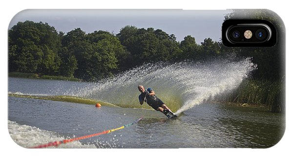 Slalom Waterskiing IPhone Case