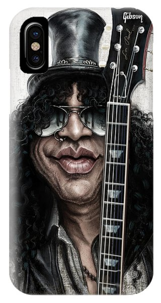 Musicians iPhone X Case - Slash by Andre Koekemoer