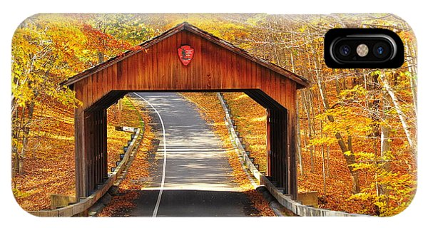 Sleeping Bear National Lakeshore Covered Bridge IPhone Case